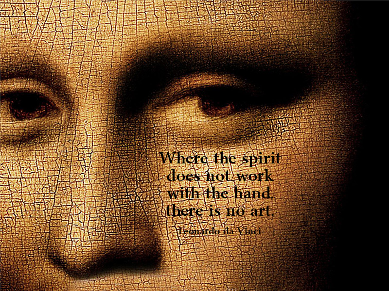 Quotation-Leonardo-Da-Vinci-work-spirit-face